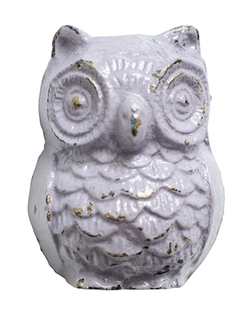 Knopp Owl i järn 5x4 cm - Lila