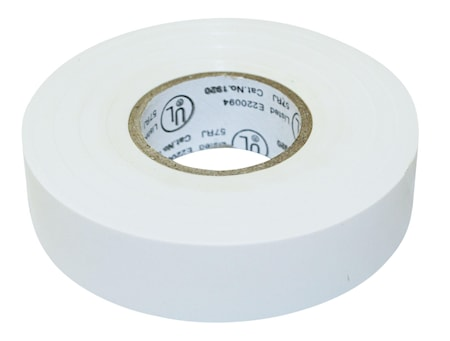 Elektrisk tape 20m Hvit 19x0.15mm