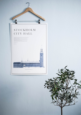 HUGONORA Stockholm city hall poster