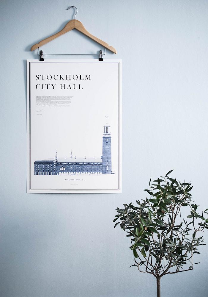 Stockholm city hall plakat