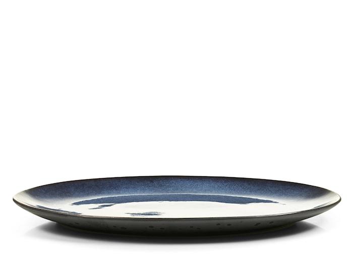 Fat ovalt sort/mørkeblå Bitz