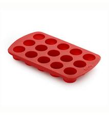 Chokoladeform Cylinder Rød