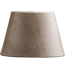 Lampeskjerm Oval Fløyel Beige