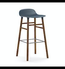Form Barstol Blå/Valnöt 75 cm