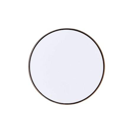 Spegel Reflection Ø 40 cm Järn/svart
