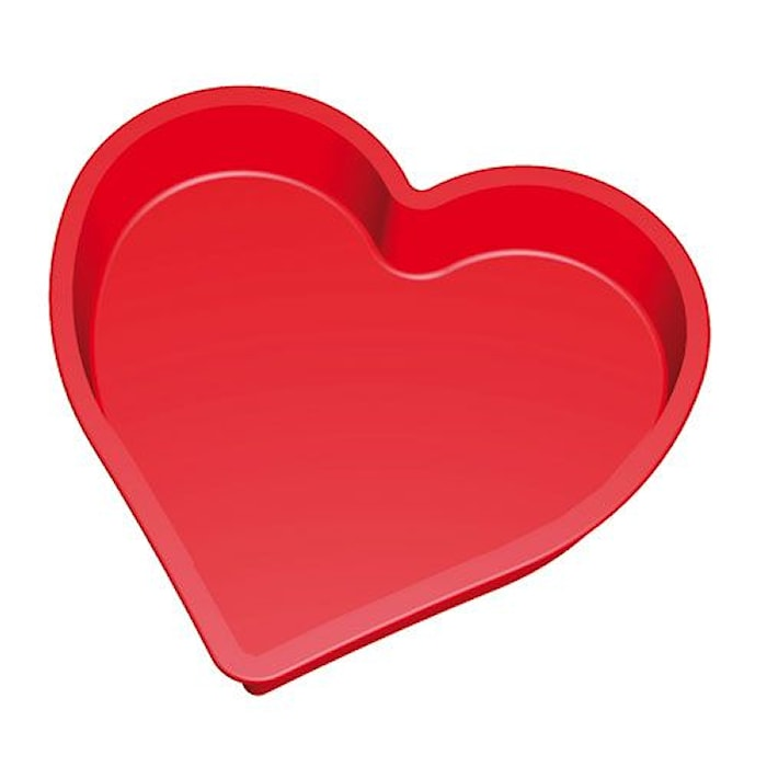 Form Hjärta Silikon Röd 1300ml