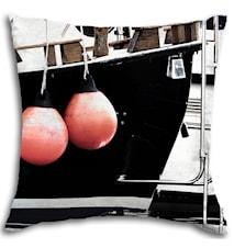 Porsholmen - putetrekk 50x50