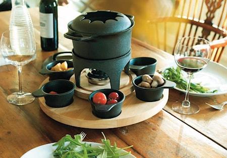 Le Gourmet Fonduesæt inkl. varmestativ