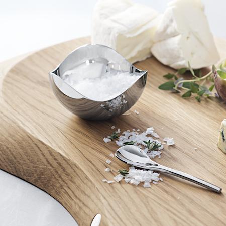 Bloom Saltkar med sked Rostfritt Stål