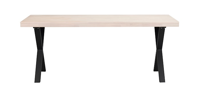 Brooklyn Matbord Vitpigmenterad Ek/X-ben Svart Metall 170x95 cm