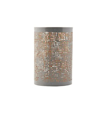 Ljuslykta Ø 8x12 cm Grå/guld