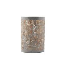 Hessian tuikkulyhty harmaa/kulta k12 cm