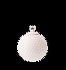 Rhombe Dekorationskugle Ø7 cm Soft Pink Porcelæn