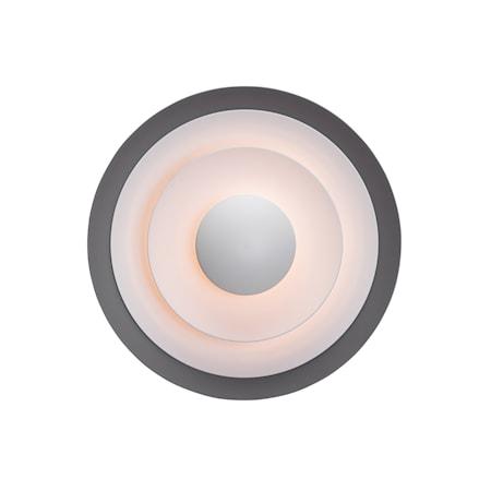 Diablo Vägglampa Grå/Blanksvart LED 40 cm