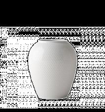 Rhombe Vase Hvit Porselen 25cm