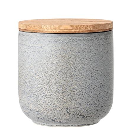 Kendra Jar w/Lid Grey Stoneware