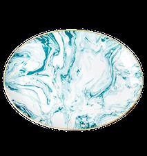 Marble Print Tarjoiluvati 35x25 cm Posliini Vihreä