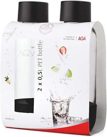 Vannflasker 2-pakk 50cl PET Svart