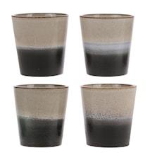 70's Keramik Krus Sort og Hvid 20 cl