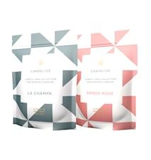 Doftljus Refill La Champa/ Amber Rose 2-Pack