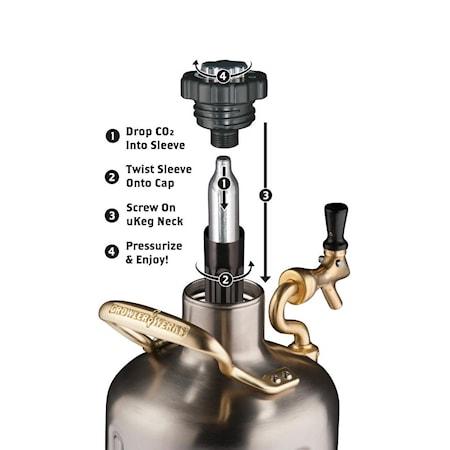 Öltapp uKeg Pro - Kromad svart 3,8 L