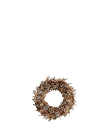 Fjäderdekoration Ø 10 cm Brun/beige