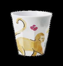 Monkey Print Mugg Liten Melamin Pastell