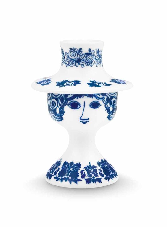 Lysestage, Rosalinde, blå, H 12 cm
