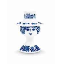 Kynttilänjalka Rosalinde, Sininen, 12 cm