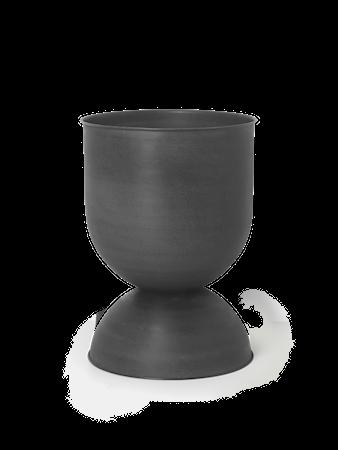 Hourglass Blomkruka Medium Svart/Mörkgrå