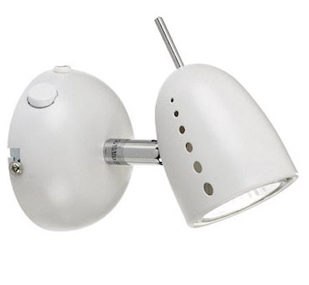 Tobo Vegglampe 1 Lys Krom/Hvit