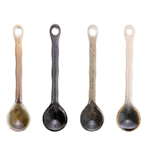 Japanske Keramikkteskjeer (Set of 4)