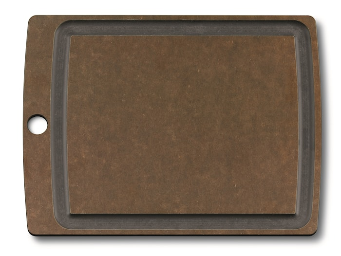 Allrounder Cutting Board M, brown with juice groove