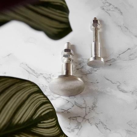 Knopp Silver 2-pack 1,5 cm