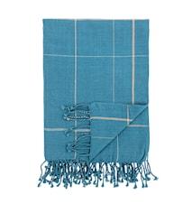 Pläd Cotton Blue 170x130 cm