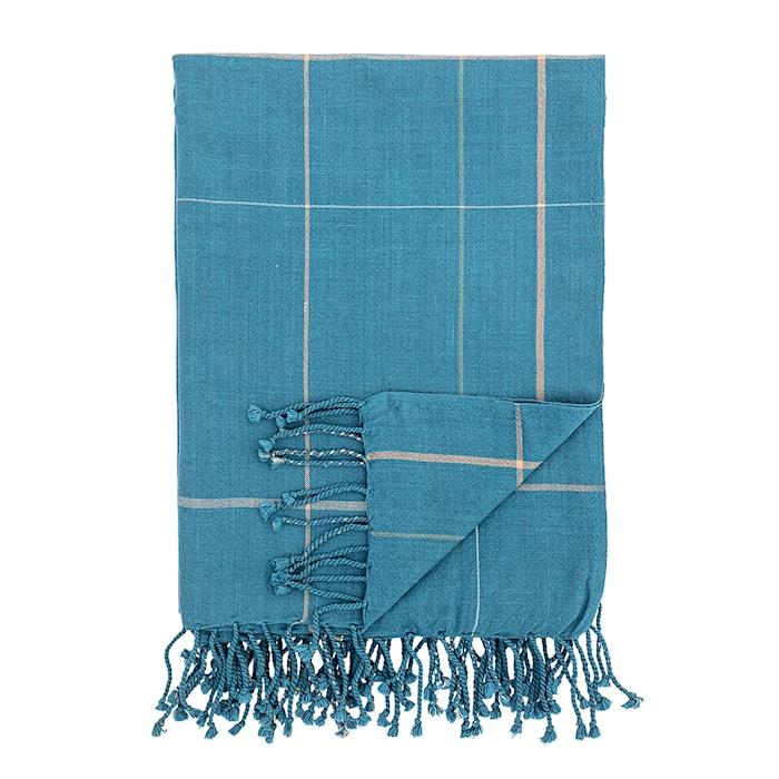 Pledd Cotton Blue 170x130 cm