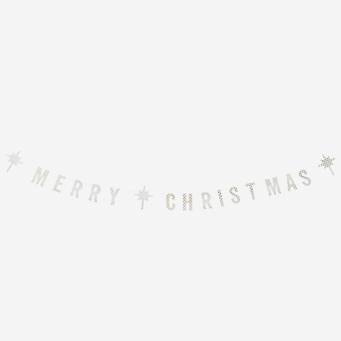 Merry Christmas paperiköynnös pilkullinen