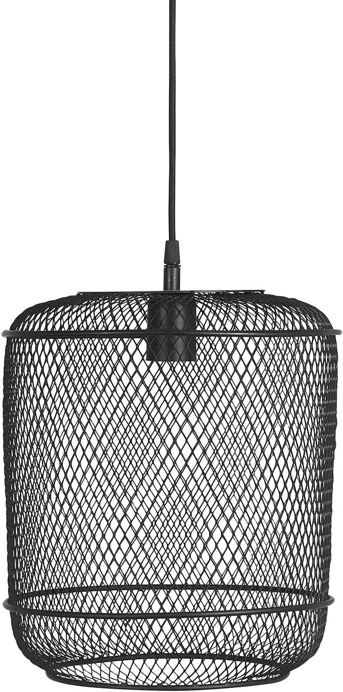 Grid tak-/vinduslampe Svart 27 cm