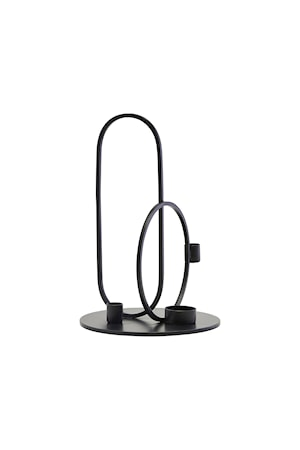 Ljusstake Cirque Black H30 cm