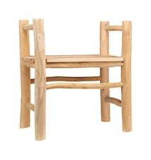 Teaky, Stol/Pall, (Sæde højde: 45 cm) (L: 55 cm, W: 55 cm, H: 80 cm)