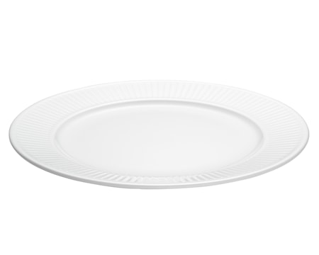 Plissé tallerken flad hvid, Ø 28 cm