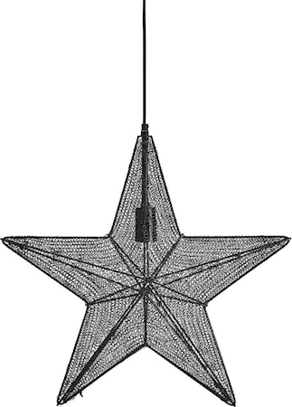 Orion hanging star Svart 60cm