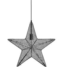 Orion hanging star Svart 60cm