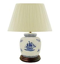 Lampfot 17,5cm Skepp Blåvit