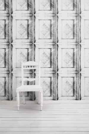 Dutch inlay panelling tapet – Almost white