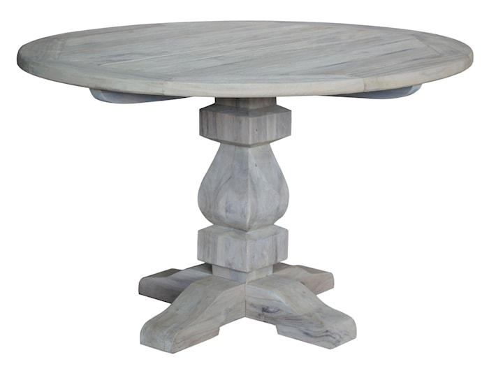French Matbord Instant Grey Teakträ Ø150 cm