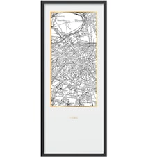 Framed print Paris – 50x120