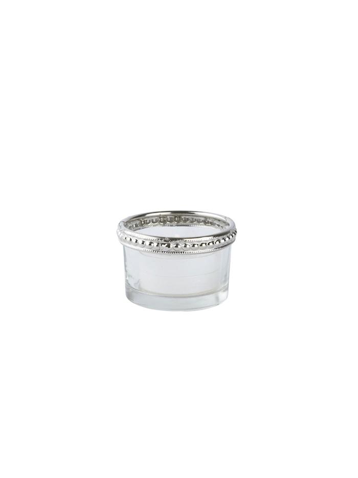 Lyslykt Metall Sølv 3 cm