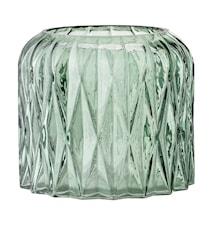 Varmelysholder Grøn Glas 13x11,5cm