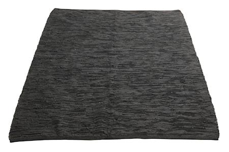 Ash Matta Läder Svart 140x200 cm